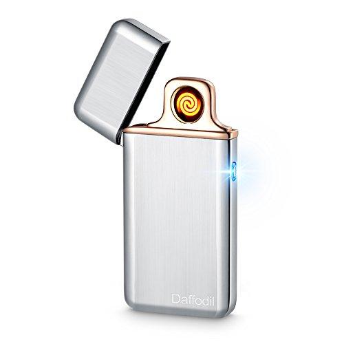 Accendino Elettronico Touch Slim - Daffodil EC220 - Accendino Elettrico Senza Fiamma Ricaricabile via USB con Sensore Touch e Resistenza Sostituibile