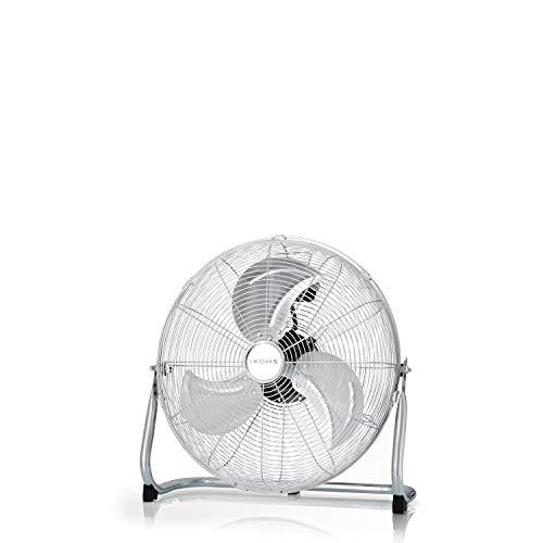 IKOHS EOLUS Turbo - Ventilador de Suelo Industrial, 110 W, Potente Flujo de Aire, Ligero, Ajustable, con Patas Antideslizantes, 3 hélices, 3 velocidades, Motor Cobre (Plata)