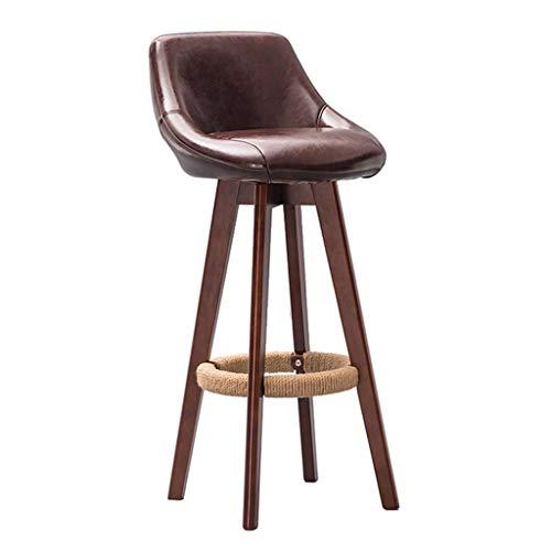 WEHOLY Barhocker Barstuhl Hochhocker aus massivem Holz Kitchen Home Breakfast Hocker Beigefarbener Stuhl mit Rückenlehne (Sitzhöhe: 79,5 cm) Esszimmerstühle (Farbe: n ° 5)