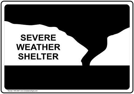 Wendana Ernstig Weer Shelter Sign, Aluminium Metalen Waarschuwingsborden Grappig, Privé Teken, Kennisbord Voor Poort, 8