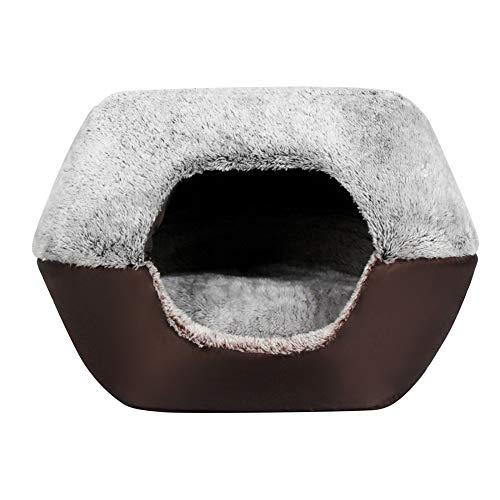 Bireegoo 1 casa semicerrada para mascotas para gatos y perros, portátil, pequeña casa, para mascotas, cachorros, gatos, camas para perros, caseras, casas, casetas de mascotas suaves y cálidas