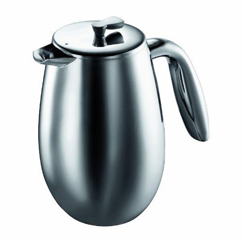 Bodum columbia Kaffeebereiter (Doppelwandig, Edelstahl, Spülmaschinengeeignet, 0,35 liters) matt