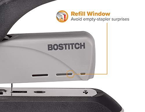 Bostitch 60 Sheet Heavy Duty Stapler - Two Fingers, No Effort, Spring Powered Stapler - Gray (1200) Photo #2