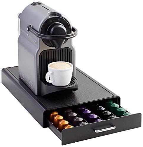 AmazonBasics Schubladenbox zur Aufbewahrung von Nespresso-Kaffeekapseln, Fassungsvermögen: 50 Kapseln