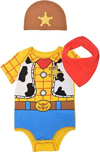 Disney Pixar Toy Story Baby Boys Woody Costume Bodysuit & Hat Set 6-9 Months