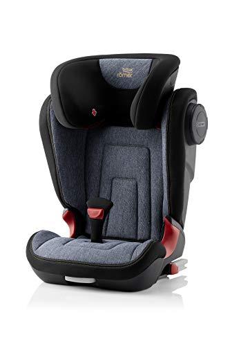 BRITAX RÖMER Silla de coche KIDFIX 2 S, con protectores laterales, niño de 15 a 36 kg (Grupo 2/3) de 3.5 años a 12 años, Blue Marble