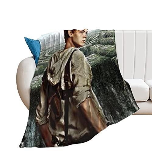 QHDS The Maze Runner Ultraweiche Micro-Fleece-Überwurf-Decken für Zuhause, Couch, Bett, Sofa, gemütlich, warm, leicht, für alle Jahreszeiten, Geschenk, Dekoration, 3D-bedruckte Decke für Kin