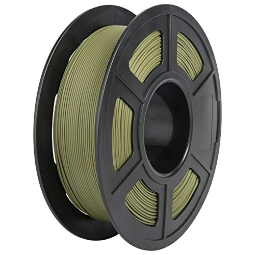 Matte PLA Filament, PRINSFIL Filament PLA 1.75 mm, 3D Printing Materials for 3D Printer, 1 kg 1 Spool, Matt Army Green …