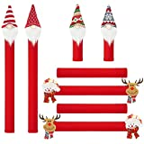 ZAWAGIIK Christmas Refrigerator Handle Covers Santa Gnome Refrigerator Door Handle Cover Set of 8 Christmas Kitchen Decor and Accessories Kitchen Appliance Handle Covers for Fridge Microwave Oven