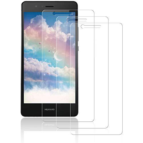 NASFUEY [3 Stück Panzerglasfolie für Huawei P9 Lite, [9H Härte][Anti-Kratzen] [Anti-Bläschen] Panzerglas, HD Displayschutzfolie Anti-Fingerabdruck Schutzfolie für Huawei P9 Lite