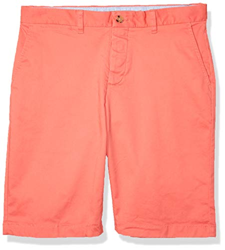 Tommy Hilfiger Men's Adaptive Short with Velcro Brand Closure and Magnetic Fly, Spiced Coral, 38