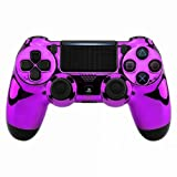 Chrome Purple PS4 PRO Modded Controller for Rapid Fire Custom Modded Controller 40 Mods for All Major Shooter Games & More (CUH-ZCT2U)
