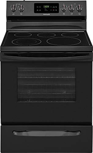Frigidaire FFEF3054TB 30 Inch Electric Freestanding Range with 5 Elements, Smoothtop Cooktop, 5.3 cu. ft. Primary Oven Capacity, in Black