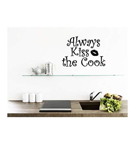 homemay PVC Wandtattoo Aufkleber Englisch KISS Cook Lippenstift Küche Wohnzimmer Sofa Hintergrund Home decorationwallpaper35.6cm X 48,3cm, Dumb Blonde, 35.6cm x 48.3cm