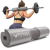 Fitness Method® 2021 Upgraded Langhantel Polster für Hip Thrust & Kniebeugen Barbell Pad +Booty Guide+ Klettverschluss, Nackenpolster