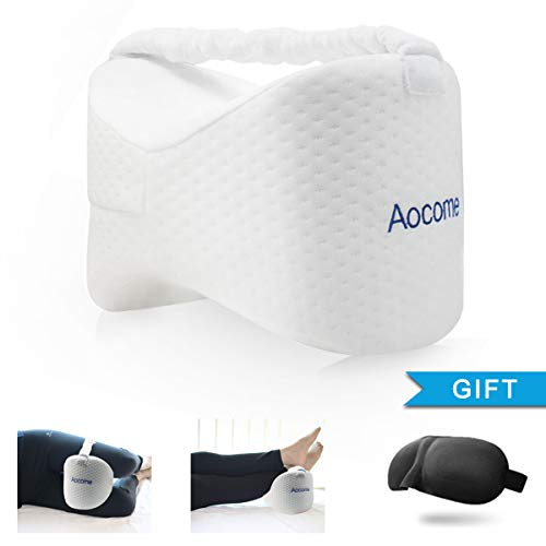 Aocome Knee Pillow for Side Sleepers - Ergonomically Designed for Back Pain, Sciatic Nerve Pain...