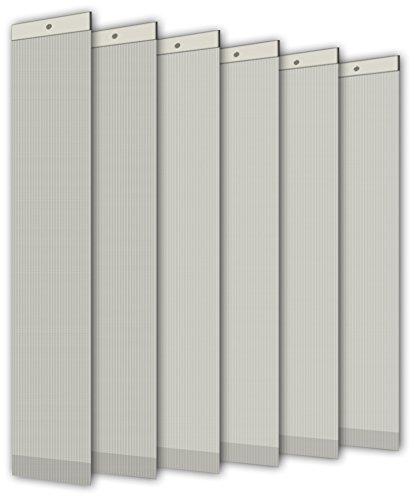 Unbekannt Einzellamellen LINE für Lamellenvorhang, Breite 89 mm, Länge 250 cm, lichtdurchlässig/Blickdicht, beige, 6er Pack