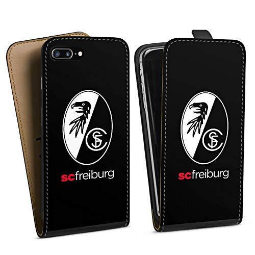 DeinDesign Tasche kompatibel mit Apple iPhone 8 Plus Flip Case Hülle SC Freiburg Wappen Offizielles Lizenzprodukt