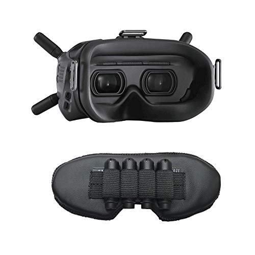 (FBA) Portable Dust Proof and Light Proof Goggles Lens Mat Protector for DJI FPV Accessories, DJI FPV Antenna and SD Card Storage Anti Scratch Cover for Drone