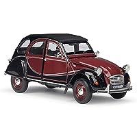 1/24スケールダイキャストモデルカー、forシトロエン2CV 6チャールストンクラシックカー合金玩具車、アダルトコレクティブルキッズギフト、6.3 * 2.6 * 2.5インチ (色 : Red)