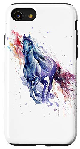 iPhone SE (2020) / 7 / 8 Running Horse in Watercolor Case