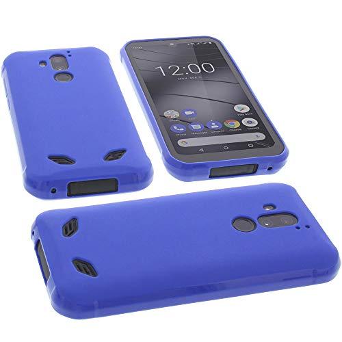 foto-kontor Hülle für Gigaset GX290 Tasche Gummi TPU Schutz Handytasche blau