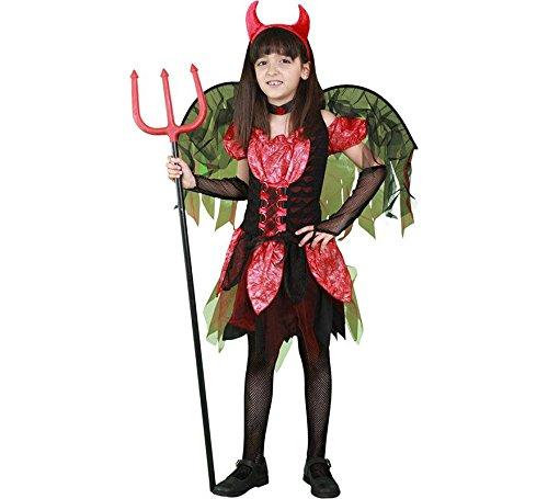 Disfraz de Diablilla Roja con alas para niña