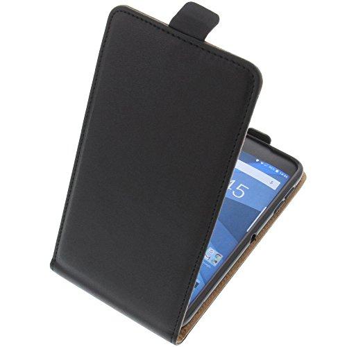 foto-kontor Tasche für BlackBerry DTEK50 Smartphone Flipstyle Schutz Hülle schwarz