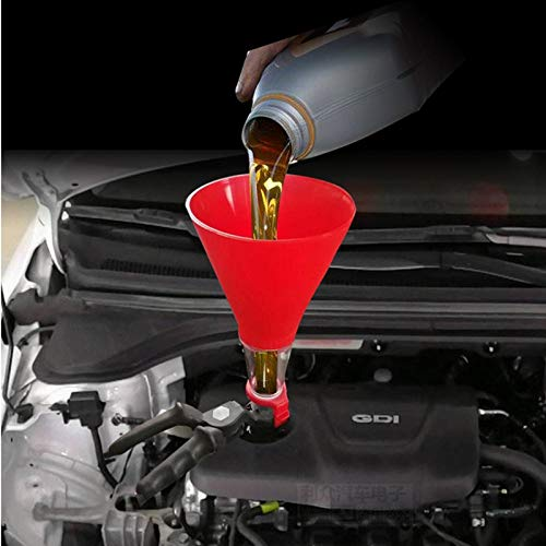 XIAOZHIWEN Universal Car Engine Oil Funnel Adjustable Gasoline Special Filling Equipment Kit Petrol Diesel Brake Fluid Change Tools Motos