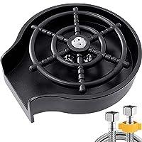 金属ガラスリンサー、キッチンシンク用蛇口カップワッシャー-ホームバー用さまざまなウォーターカップ用,黒