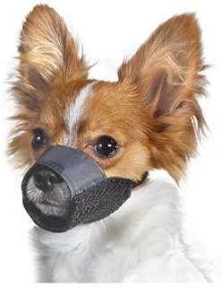 Medium Size-3 Nylon Pet Dog Muzzle Mouth Grooming No Bark Bite Adjustable Black