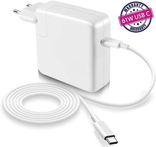 """Compatibile con MacBook Pro/Air Alimentatore 61W USB C Caricatore di fulmine Tipo C PD, per MacBook Pro 13\"""" pollici 2016, 2017, 2018, 2019"""