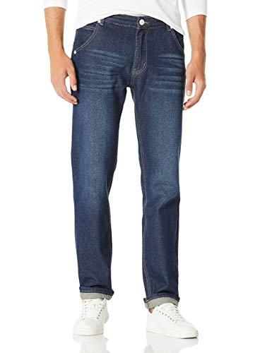 Demon&Hunter 806 Series Hombre Regular Corte Recto Pantalones Vaqueros DH8021(33)