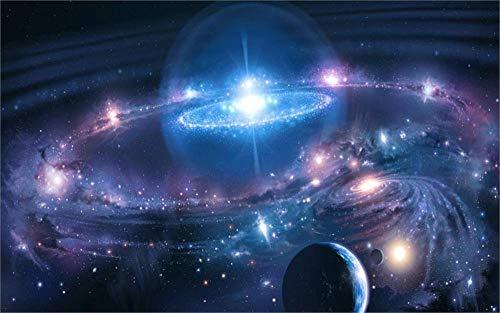 YISUMEI - Soft Fleece Blanket - Space Planets Moons Galaxies, 150 x 200 cm...