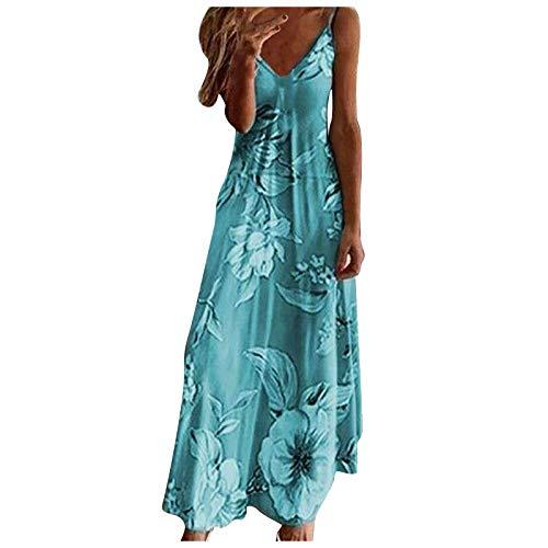 Dress for Women, Summer Tie Dye Colorful Sexy Sleeveless V Neck Maxi Dress Casual Sundress Beach Party Split Long Dresses