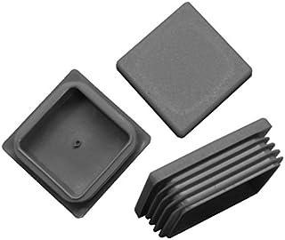 Lamellenstopfen 5Stück 45 x 25 mm PE schwarz Rechteckstopfen Rohrstopfen Gleiter