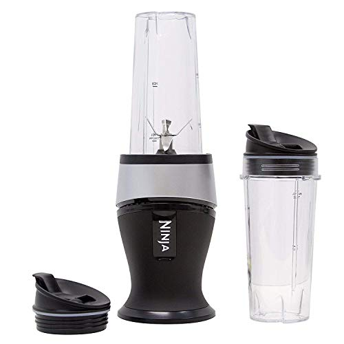 Ninja Personal Blender for Shakes, Smoothies, Food Prep, and Frozen Blending with 700-Watt Base and (2) 16-Ounce Cups with Spout Lids (QB3001SS) (Renewed)