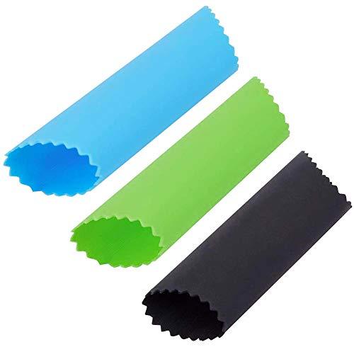 3PCS Silikon Knoblauchschäler Knoblauch Peeling Tube, Silikon Küchenwerkzeug Schält Knoblauchzehen in Sekunden Ohne Unangenehmen Geruch an den Händen, 3 Farben