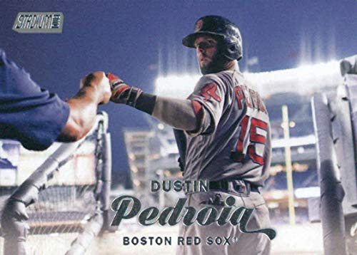 2017 Topps Stadium Club #176 Dustin Pedroia Boston Red SoxOfficial MLB Baseball Trading Card in Raw (NM ro Better) Condition