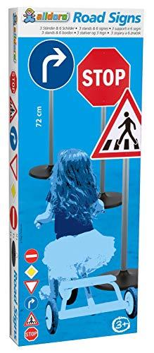 alldoro-Segnale bambini, altezza 72 cm, 3, 6 cartelli e 12 clip di supporto, per un piccolo giro stradale, Colore, 60096