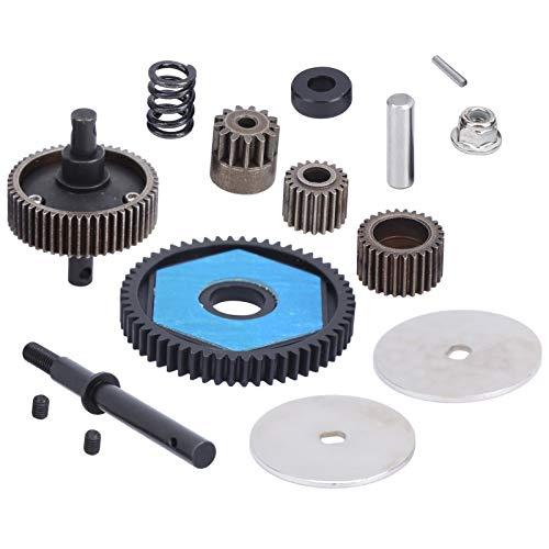 Engranajes de transmisión con engranaje de motor Engranajes de transmisión RC aptos para Axial SCX10/SCX10 II 90046 90047 RC Car Set de 17
