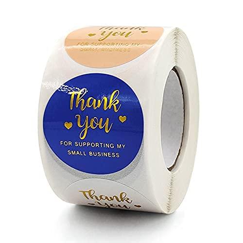 XXCKA Rotolo Grazie per Aver acquistato Adesivi per Buste Decorative Commerciali