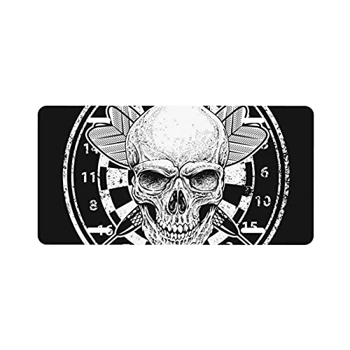 ZORIN Placa de matrícula de aluminio con diseño de calavera de la muerte, dardos, bandera americana, placa de metal para placa de matrícula decorativa de coche, 15,2 x 30,5 cm (4 agujeros)