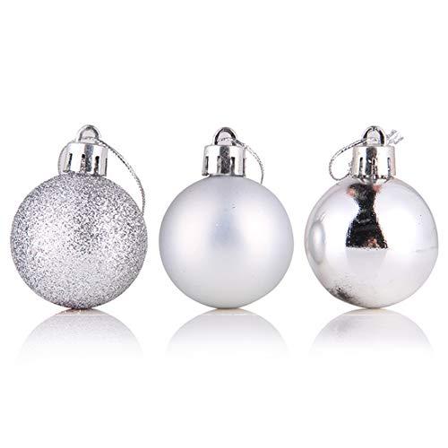 Luwu-Store 24pcs / lot décoration de Sapin de Noël Boule babiole décorations de décoration de fête de Noël pour Les décorations de Noël à la Maison