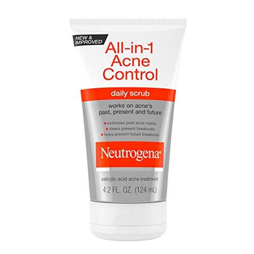 Neutrogena All-In-1 Acne Control Daily Face Scrub to Exfoliate and Treat Acne, Salicylic Acid Acne Treatment, 4.2 fl. oz