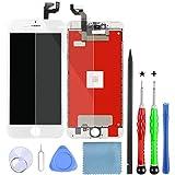 Lansupp Pantalla para iPhone 6s Plus Táctil LCD Pantalla Reemplazo Ensamblaje de Marco Digitalizador con Herramientas de Reparación(Blanco)