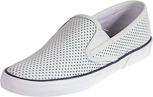 Sperry Women's Pier Side Leather Slip on Shoes (9.5 M US, Navy 1)
