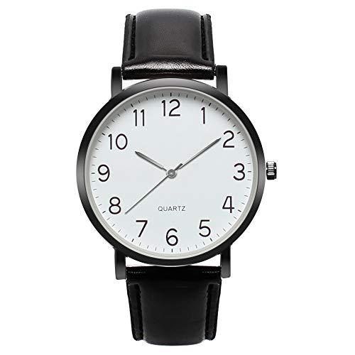 Herenhorloges mode business sport waterdicht militair horloge mannen multifunctioneel chronograaf kwarts zwart polshorloges met lederen armband