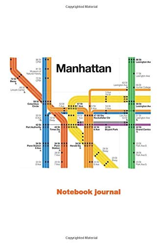Journal Notebook: manhattan Subway Map Diagram City Metro Art Novelty Small Lined Journal Notebook (6