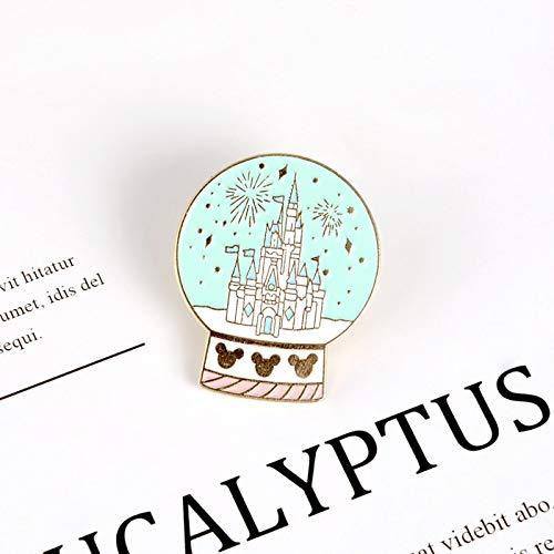SHAOWU Magical Castle crystal ball enamel pin Dreamy Fairy tale world brooch Sweet happy childhood Lapel pins badges jewelry kids gifts